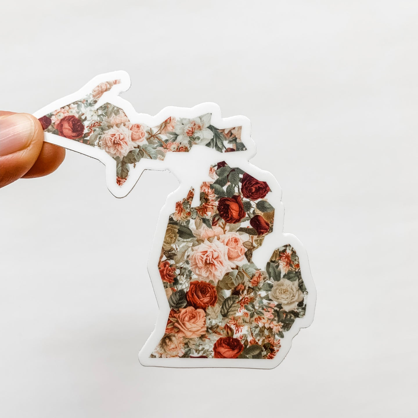Michigan State Vintage Floral Sticker Decal