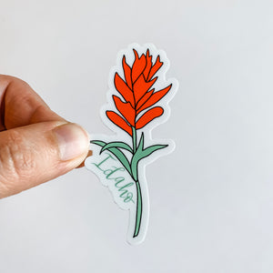 Idaho Indian Paintbrush Flower State Sticker Decal