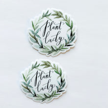 Plant Lady Wreath Sticker Decal