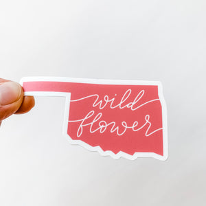 Oklahoma State Wildflower Coral Sticker Decal