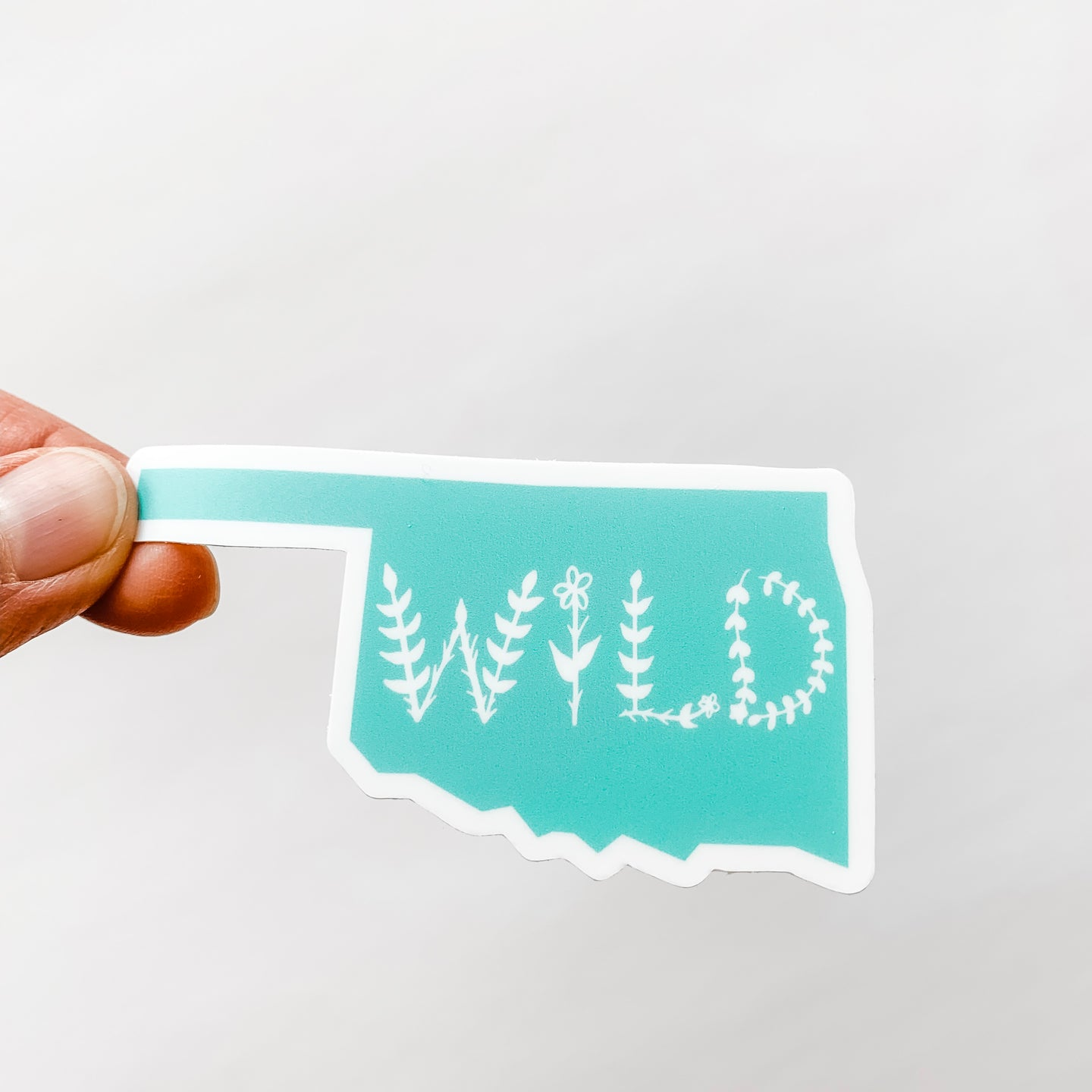Oklahoma State Wild Mint Green Sticker Decal