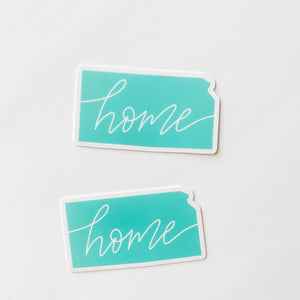 Kansas State Home Mint Green Sticker Decal