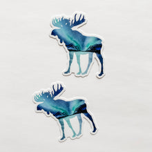 Moose Northern Lights Sticker Decal