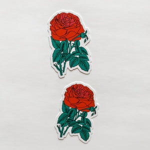 Red Rose Flower Sticker Decal