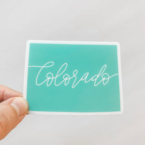 Colorado State Mint Green Sticker Decal