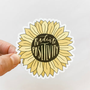 Radiate Positivity Sunflower Sticker Decal