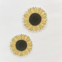 Sunflower Round Sticker Decal