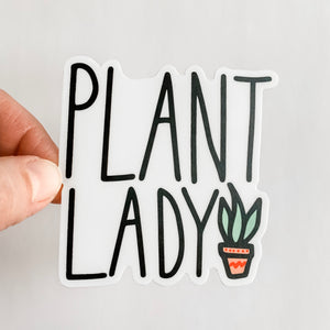 Plant Lady Succulent Sticker Decal