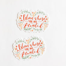 Bloom Where You Are Planted Sticker Decal