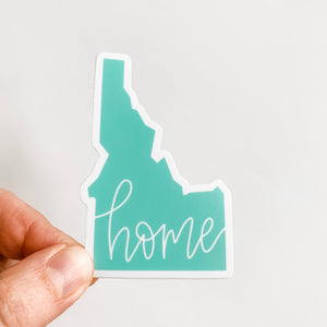 Idaho State Home Mint Green Sticker Decal