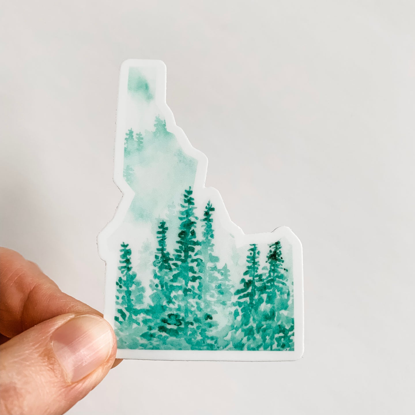 Idaho State Forest Green Sticker Decal
