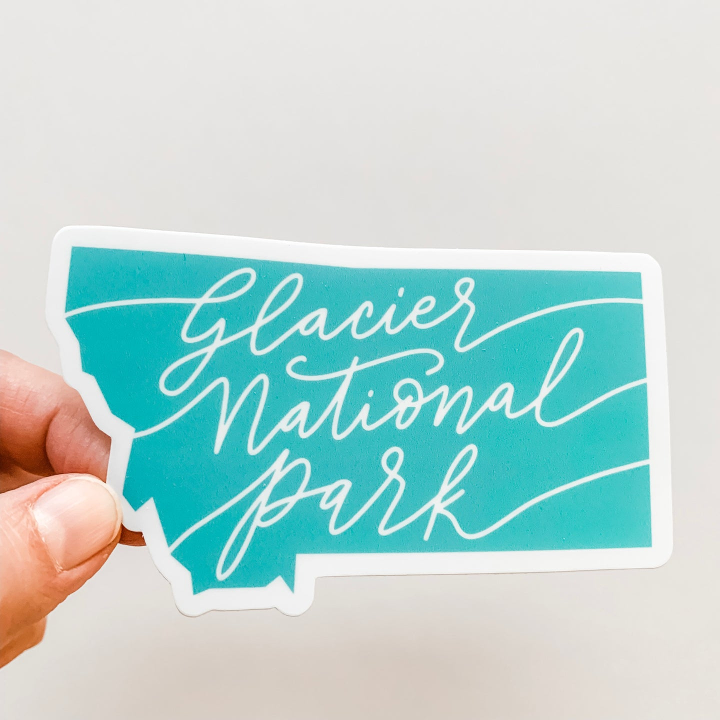 Montana Glacier National Park Mint Green State Decal Sticker