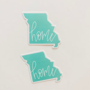 Missouri State Home Mint Green Sticker Decal