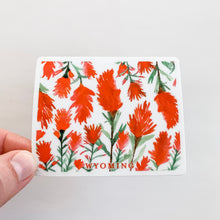 Wyoming Indian Paintbrush Watercolor Flower State Sticker Decal