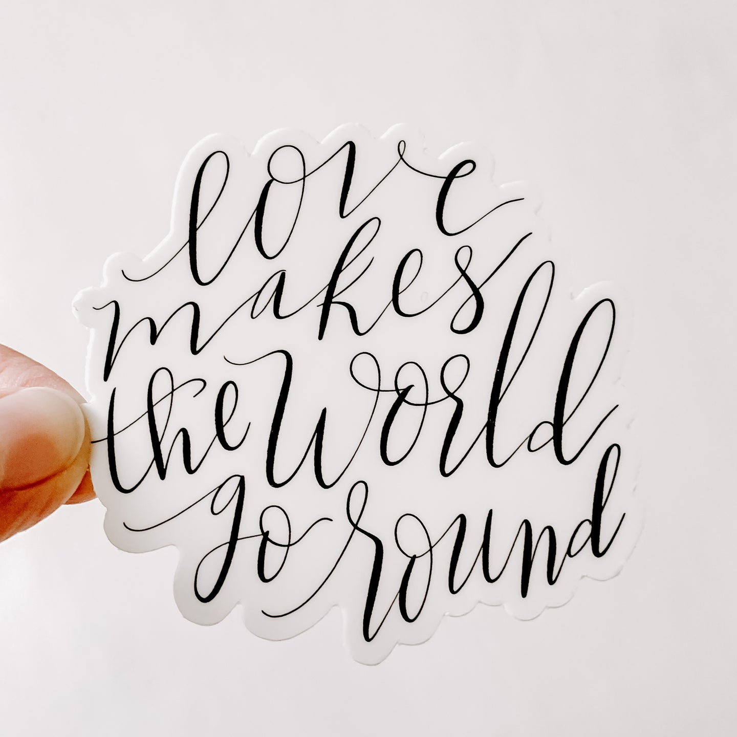 Love Makes The World Go Round Sticker Decal