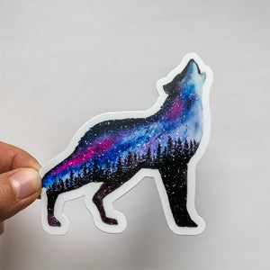 Starlight Wolf Sticker Decal