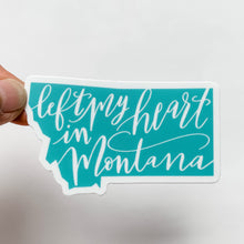 Left My Heart In Montana Turquoise Sticker Decal