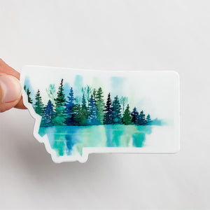 Montana State Lake Reflection Decal Sticker