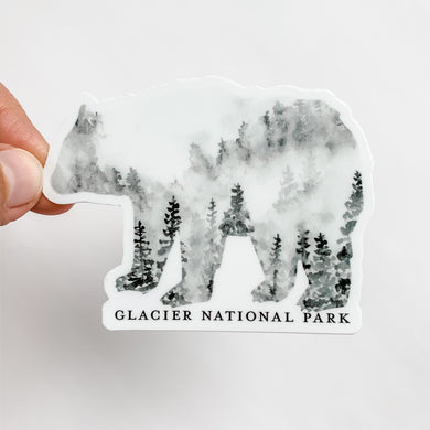 Glacier National Park Black Bear Forest Sticker Montana