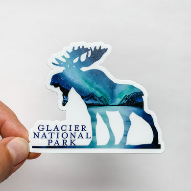 Glacier National Park Moose Sticker Decal