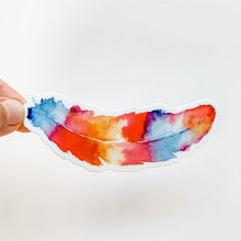 Watercolor Colorful Feather Sticker Decal