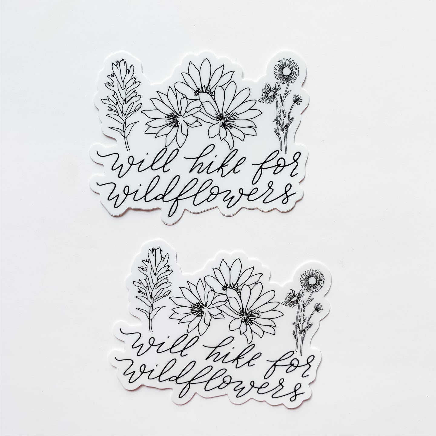 Will Hike For Wildflowers Sticker Decal
