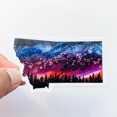 Montana State Summer Night Sky Decal Sticker