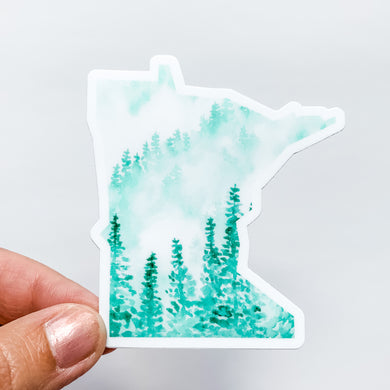 Minnesota State Forest Green Sticker Decal