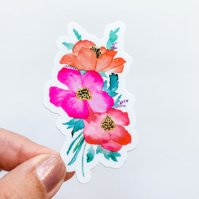 Bright Bouquet Watercolor Floral Sticker Decal