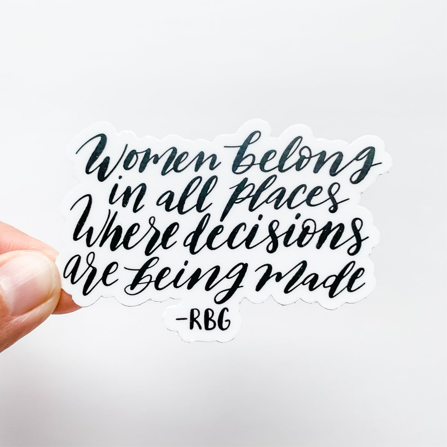 Women Belong RBG Sticker Decal Ruth Bader Ginsburg