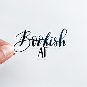 Bookish AF Sticker Decal