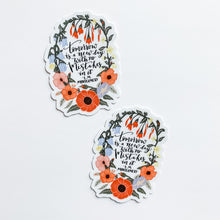 New Day Floral Sticker Decal