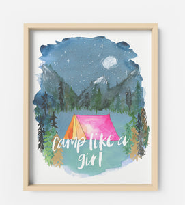 Art Print - Camp Like A Girl