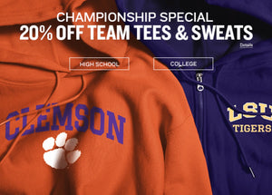 Championship Special 20% OFF TEAM TEES & SWEATS
