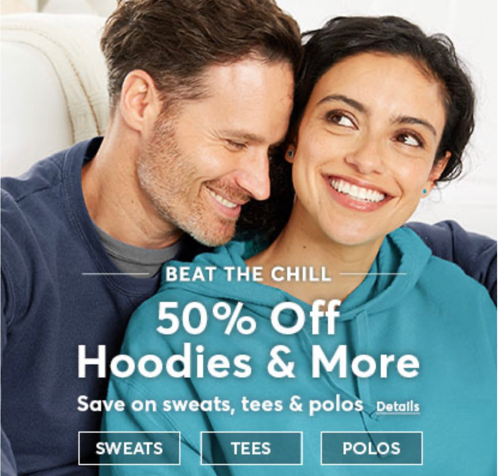 50% Off Hoodies & More