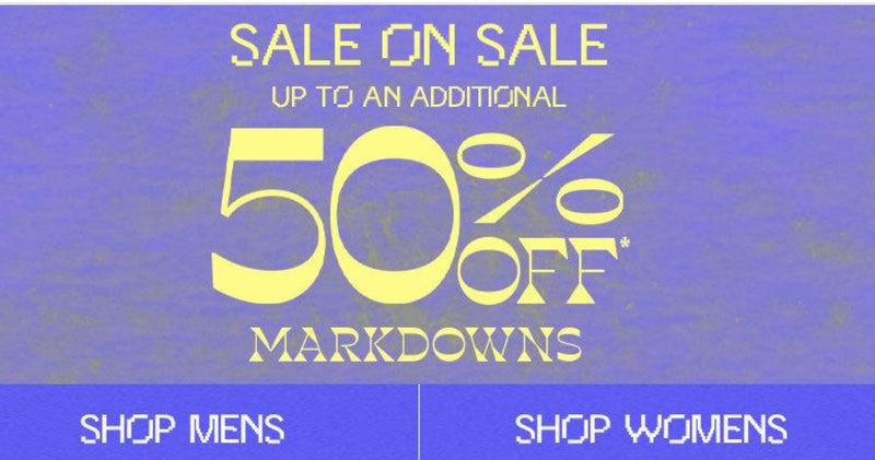 PACSUN --- SALE ON SALE UP TO AN ADDITIONAL 50% MARKDOWNS