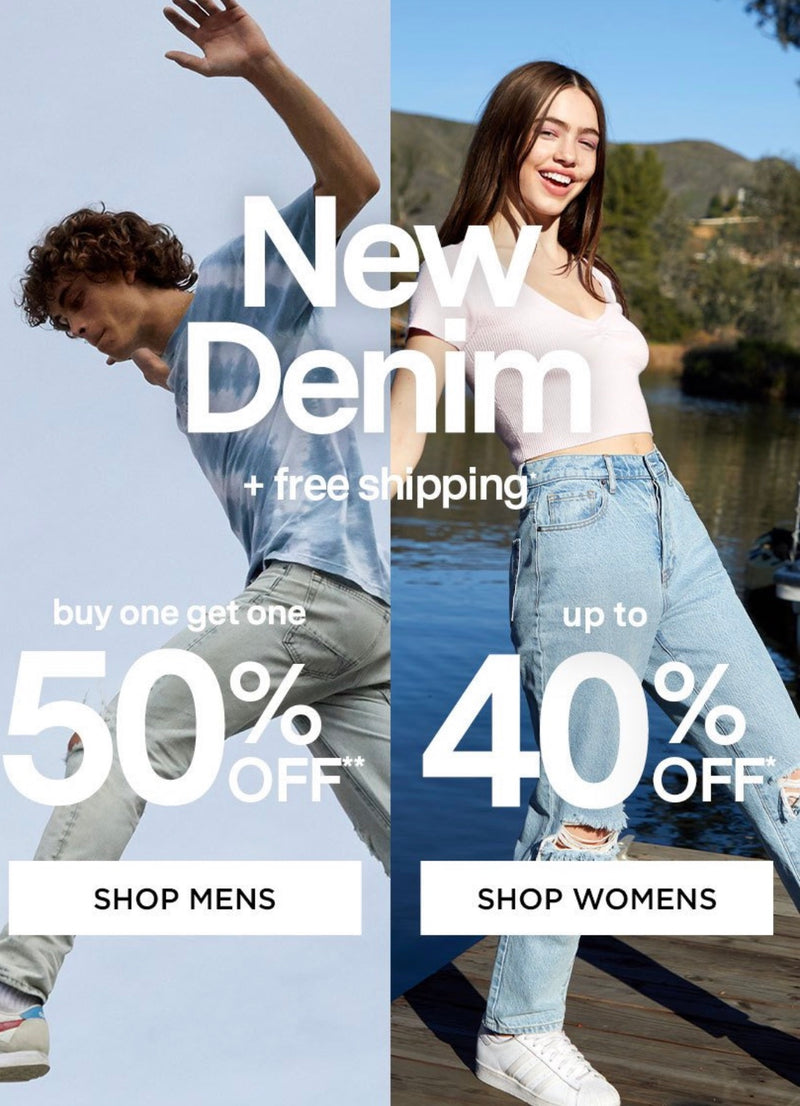 PACSUN...NEW DENIM + free shipping