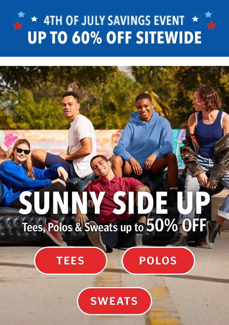 HANES...Sitewide Savings - Up to 60% Off!