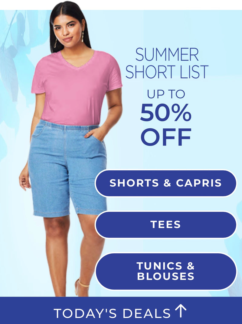 Summer Short List Up to 50% Off