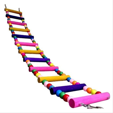 Pet Bird Swing Multicolor Ladder Bridge