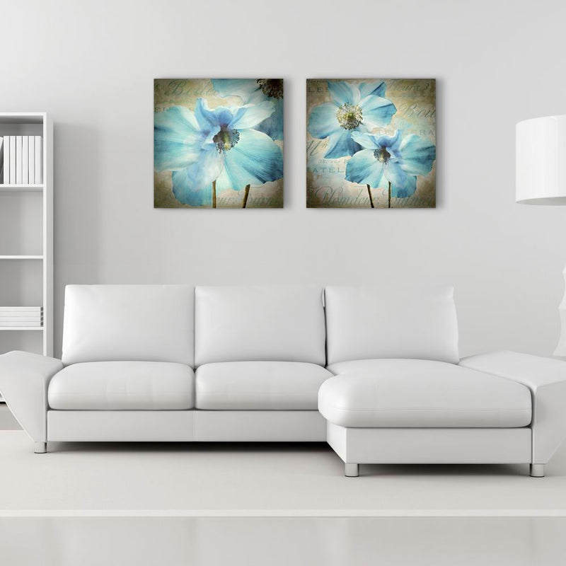W108 Flowers Unframed Wall Canvas Prints for Home Decorations 2 PCS