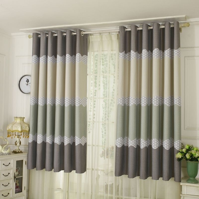 New 100*200cm Curtains Tulle Room Curtains Drapery French Bay Window Printed Curtain Window Blinds