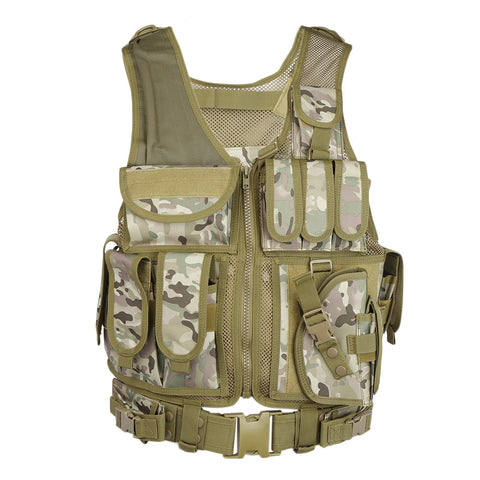 Hunting Tactical Molle Paintball Combat Soft Vest