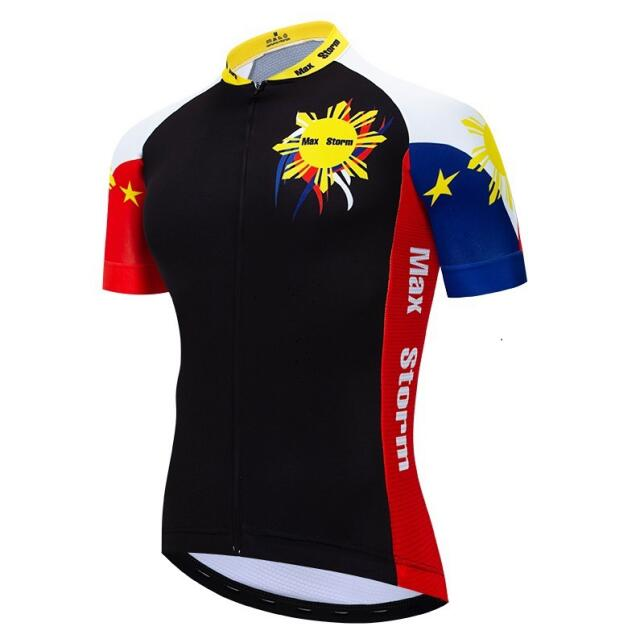 Philippines Cycling Jersey Reflective zipper 4 pocket