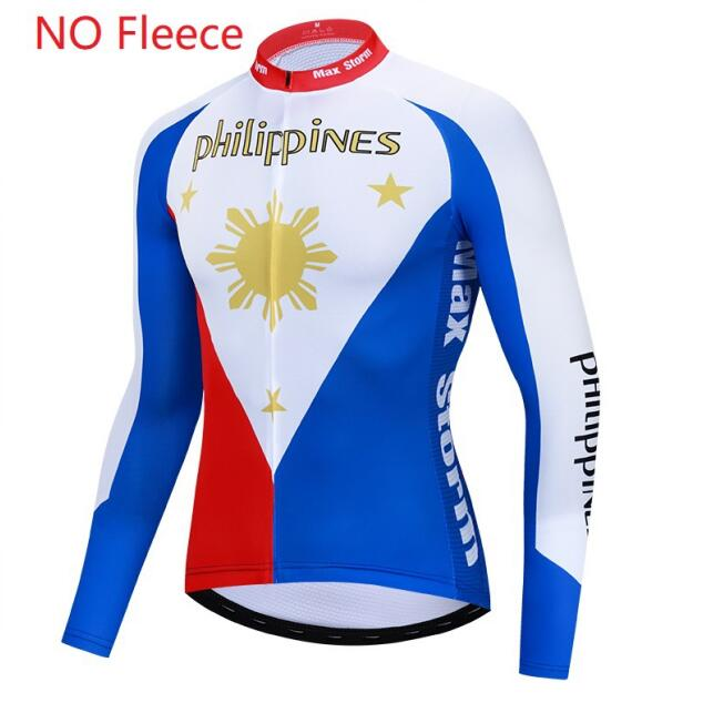 Philippines cycling jersey long sleeve Winter Thermal Fleece