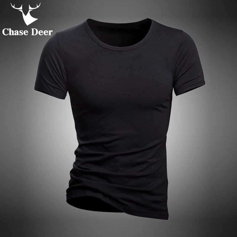 New Brand Chase Deer White And Black Tracksuit Underwear T-Shirt Men