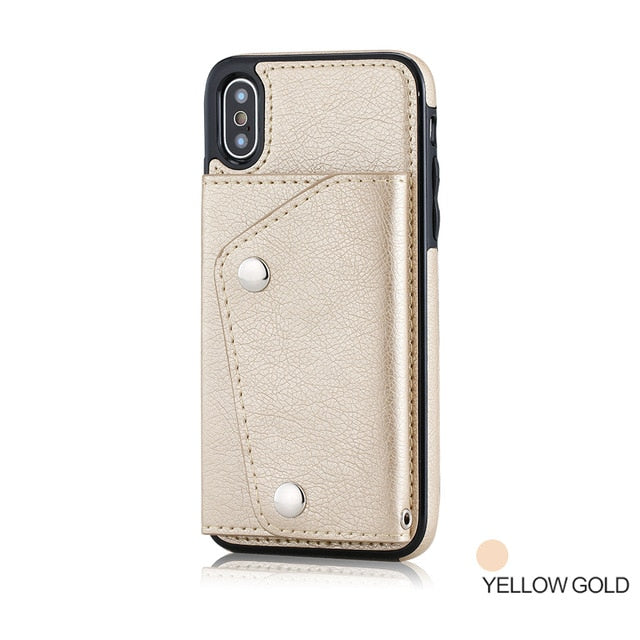 Case For iPhone XS Max XR 7 8 Plus Case Wallet Flip Cover Card