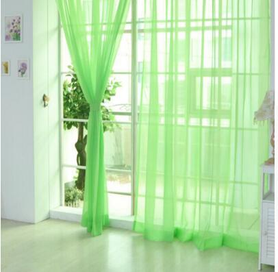 100*200cm Window Curtain Home White Tulle Curtains Polyester Window Screen