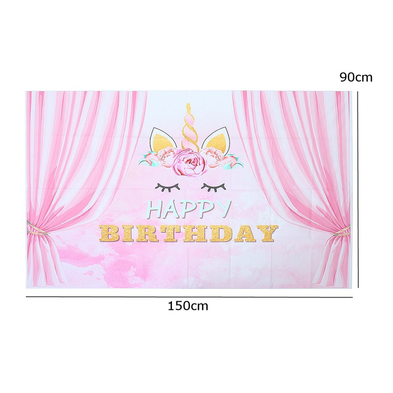 90x150cm/3x5ft Baby Pink Curtain Birthday Backgrounds Party Event Photography Backdrop