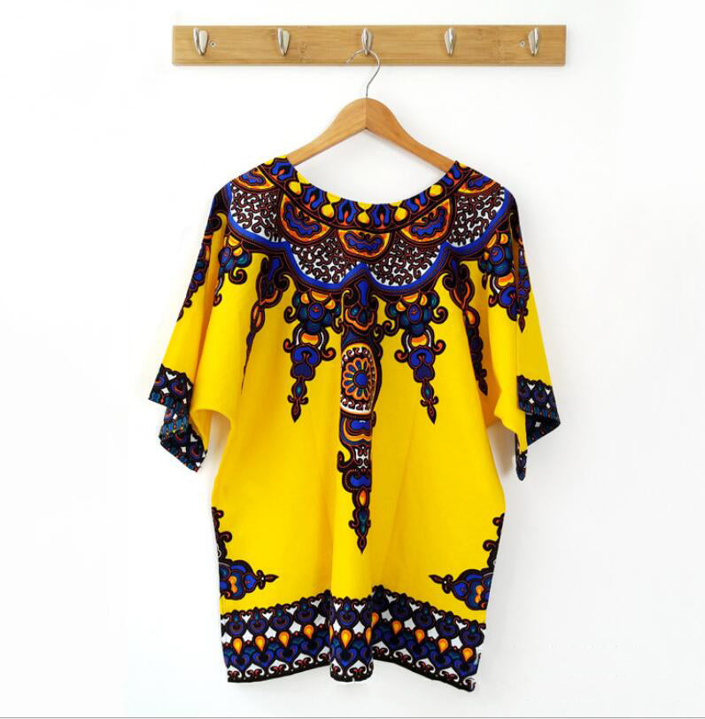Dashiki New African Clothing Traditional Print Tops